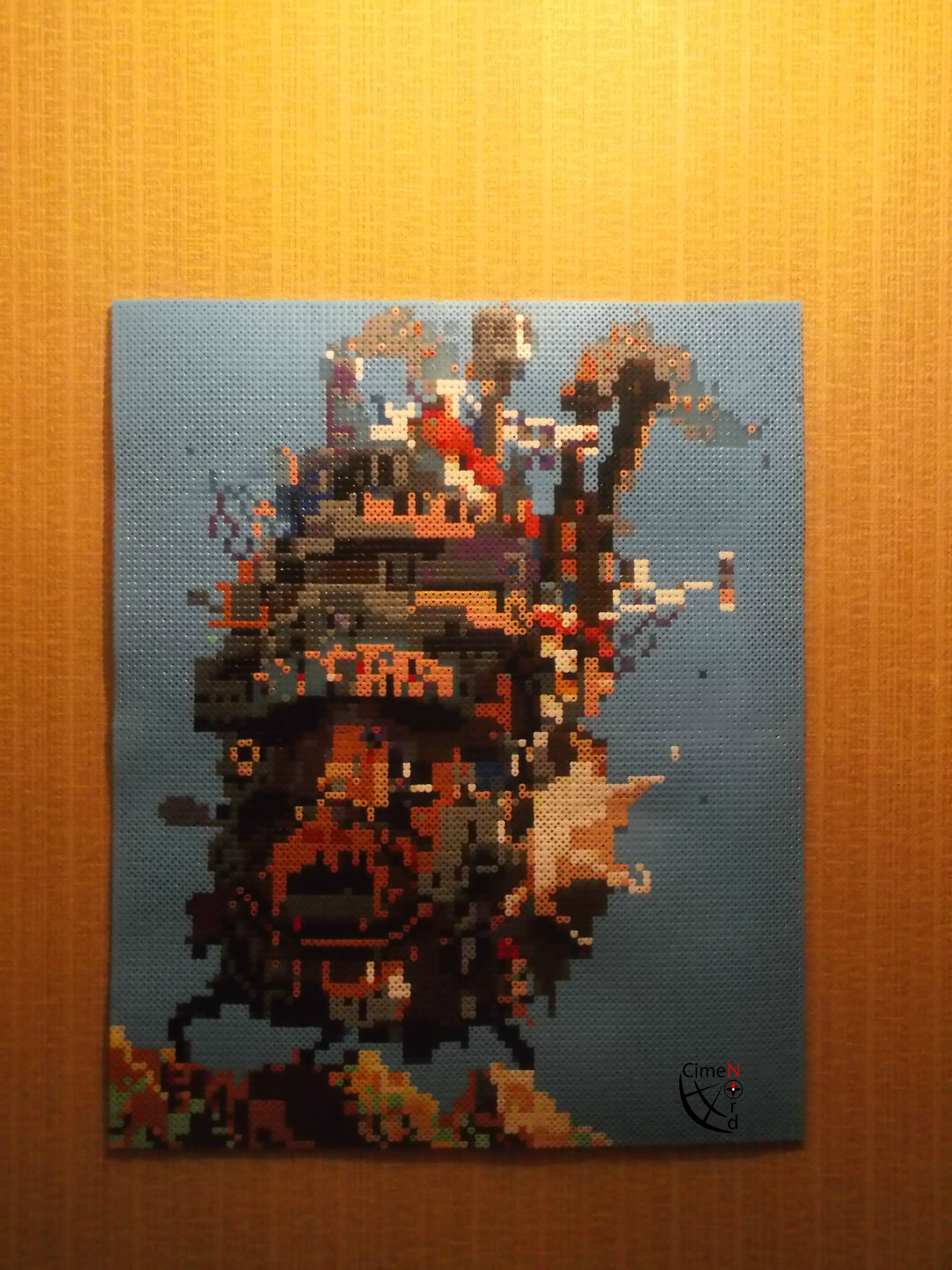 Howl's moving castle- Hama Beads/ Pixel Art by Cimenord on ...