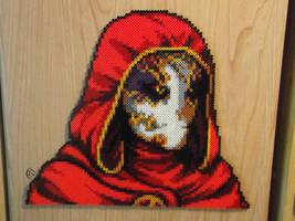 I have returned. Jack of Blades Perler Portrait by Cimenord