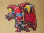 Poppy Scarlet Hammer Pixel Art