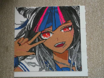 Ibuki Mioda - Portrait Perler Beads