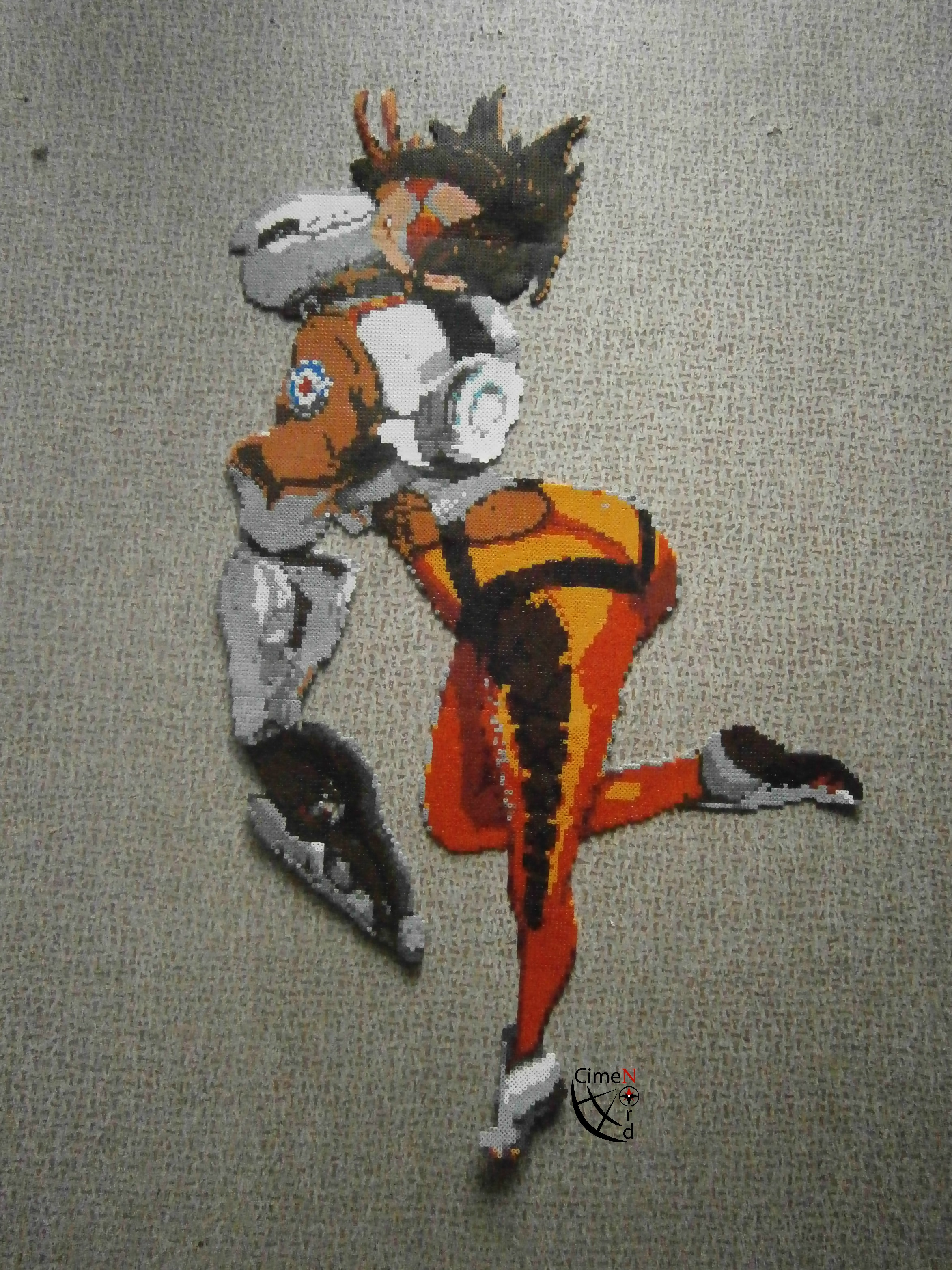 Tracer Overwatch - Etsy Perler Beads Commission