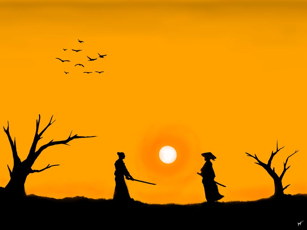 Simple Samurai Silhouette by Xynxz