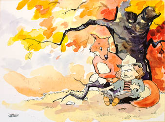 Calvin and Hobbes commission by lucius-phoenix