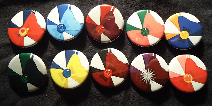 Sailor Scout Buttons by Quatrina