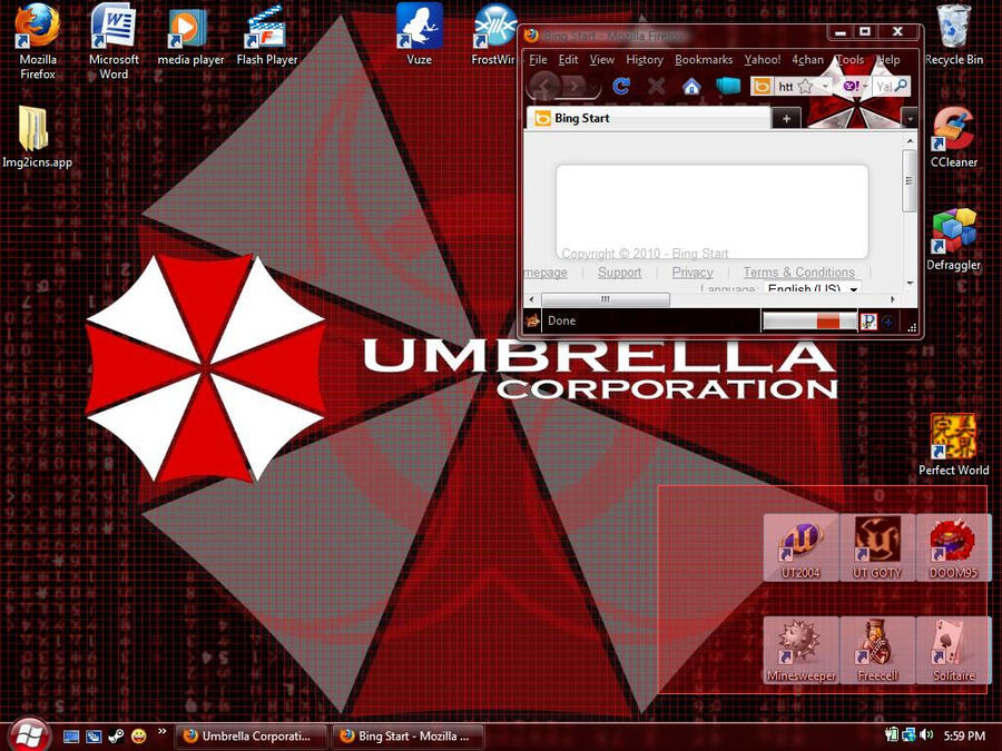 Windows 7 Resident Evil Theme