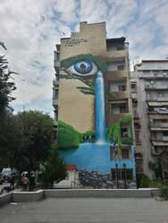 Thessaloniki Building Art by blackskull18