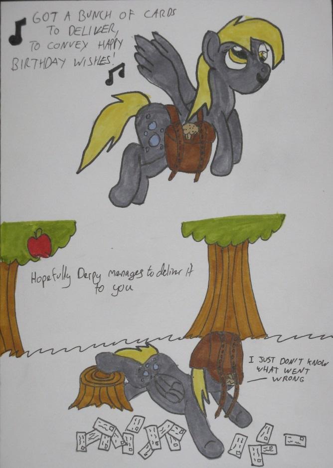 Derpy Birthday Card by IronBrony