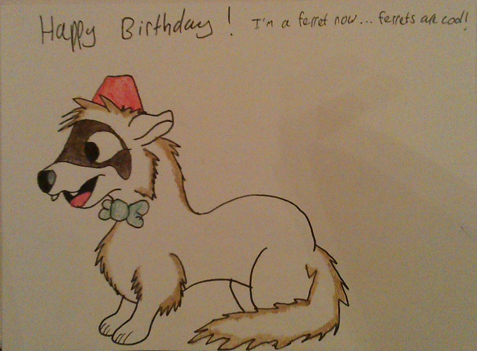 Ferret Birthday Card by IronBrony on DeviantArt – Ferret Birthday Card
