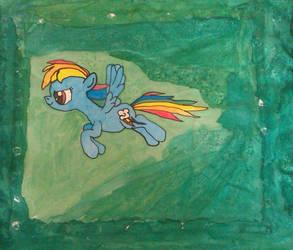 Rainbow Dash Cushion by IronBrony