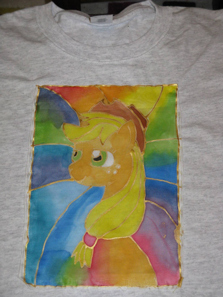 Applejack silk painting t-shirt by IronBrony