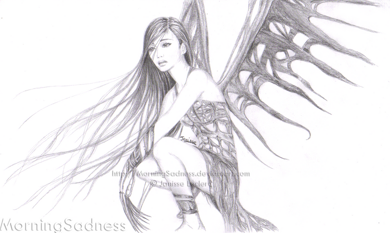 Easy drawings of dark fairies images amp pictures becuo