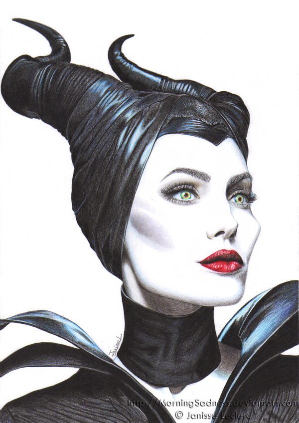 angelina jolie as maleficent malefique by morningsadness