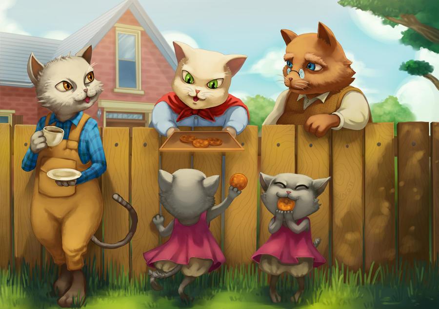 Cat neighborhood by makananjugaseni