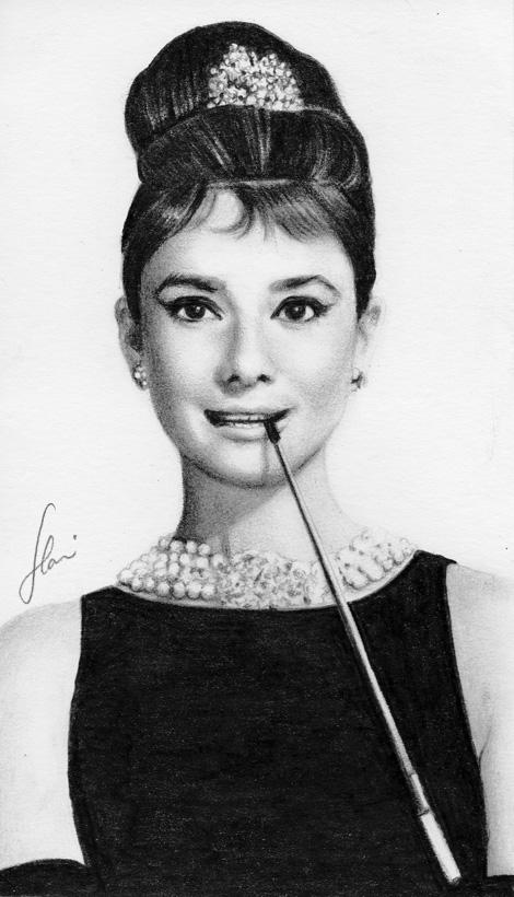 Audrey Hepburn by hrm-n