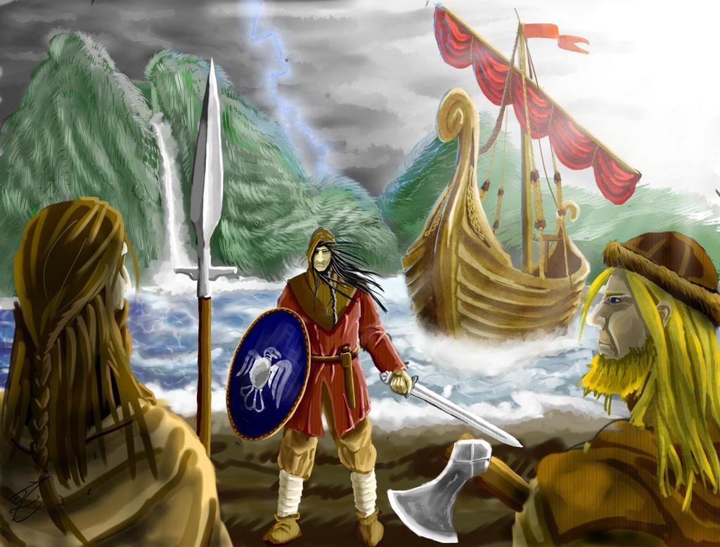 Asulf  the bastard of Vinland by jormungan13