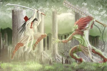 Oni hunter by jormungan13
