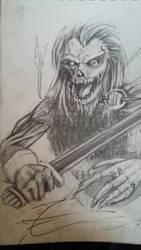 medieval zombie by jormungan13
