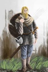 the wandering warrior by jormungan13