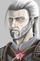 Geralt Portrait by jormungan13