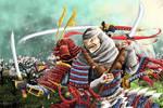 Benkei and Minamoto by jormungan13