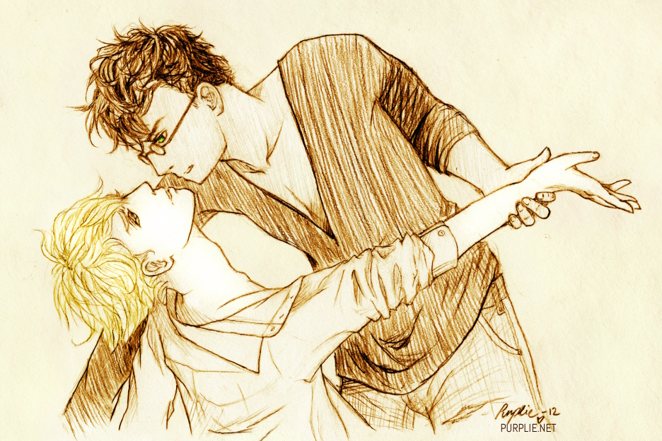 You Re So In Trouble Harry X Draco By Purplieh On Deviantart