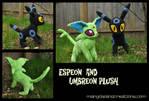 Shiny Espeon and Umbreon Plush
