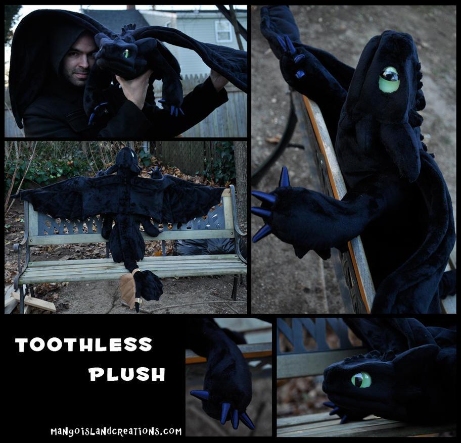 Toothless Plush by MangoIsland