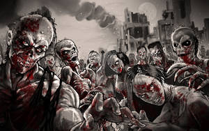 Zombie Game over screen