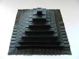 Origami tesselation Pyramid by NordyFox