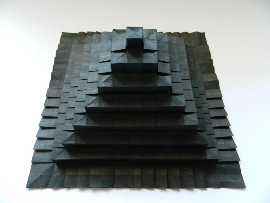 Origami tesselation Pyramid by NordyFox
