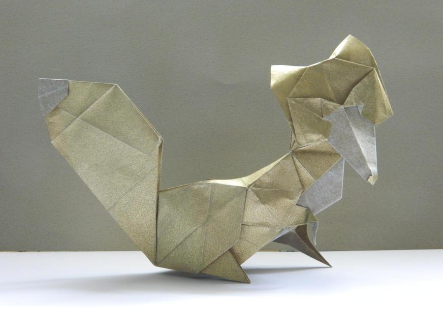 Origami gold Vixen by NordyFox