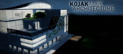 House Concept ,night render by kojakalex