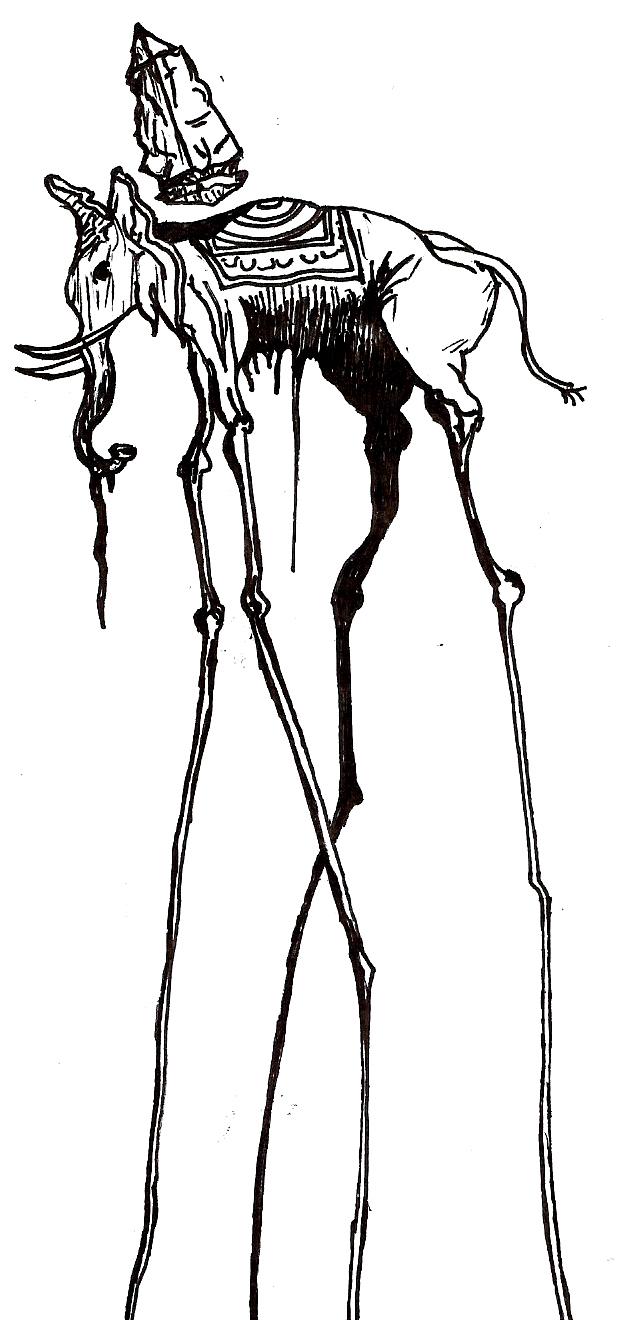 dali elephant sketch by acdcdrummer on deviantart