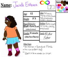 Jacinta-character reference sheet