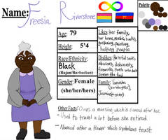 Freesia-Character reference sheet