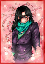 Nadezhda | Yuri on ice OC. | Soft cherry blossom. by MintIvy