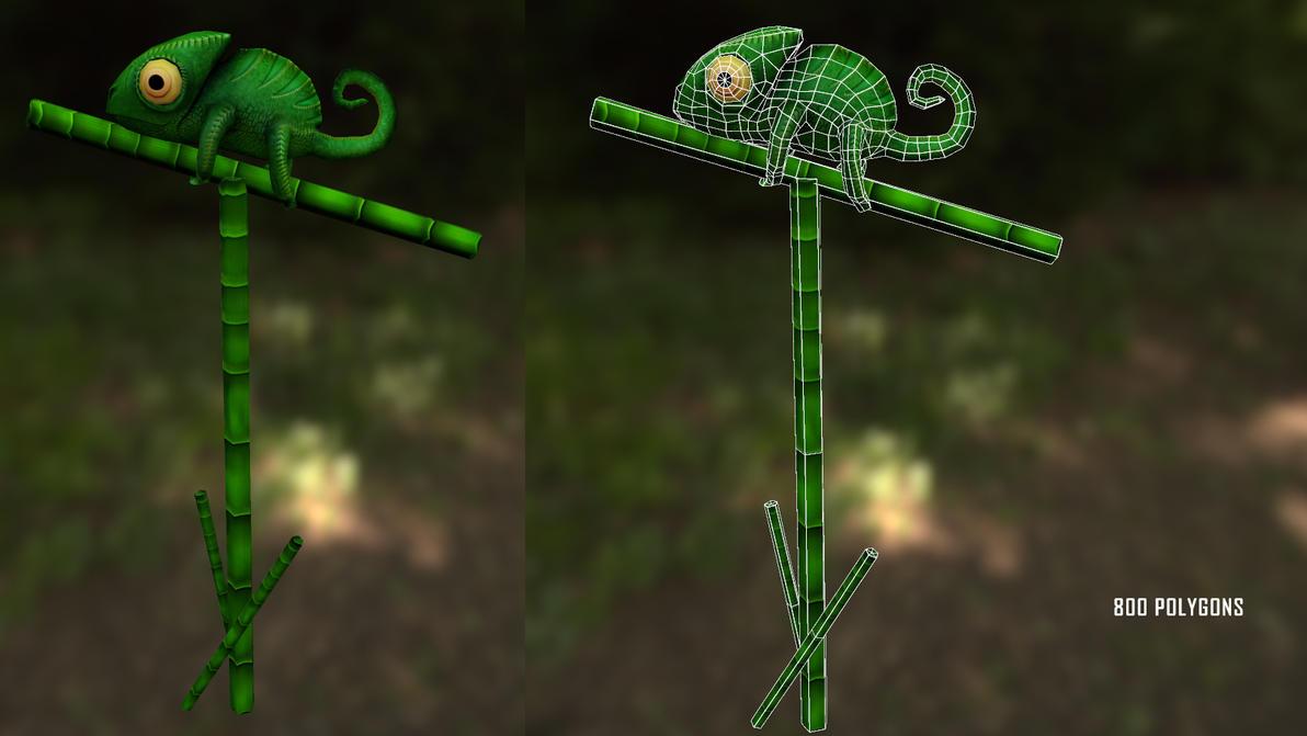 chameleon game prop by DragonisAris