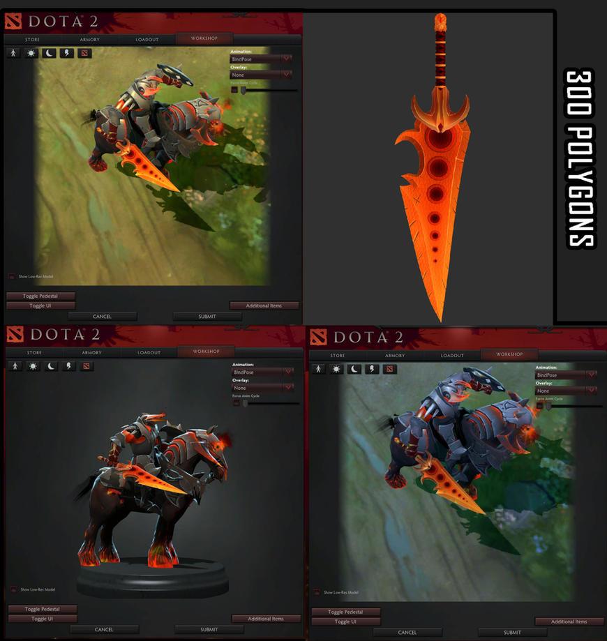 Dota 2 sword showreel by DragonisAris