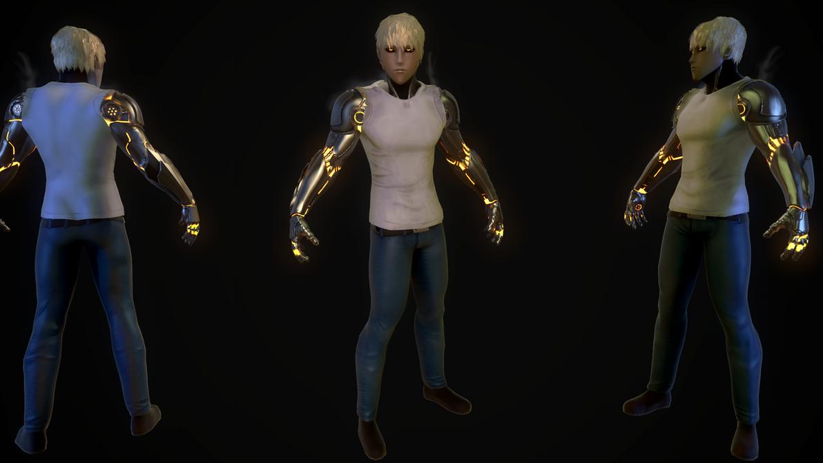 Genos 3d model by DragonisAris