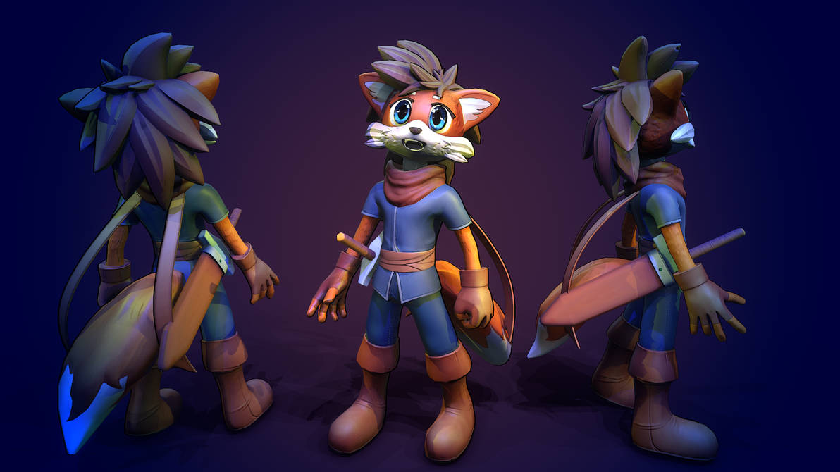 stylized hero adveturer by DragonisAris