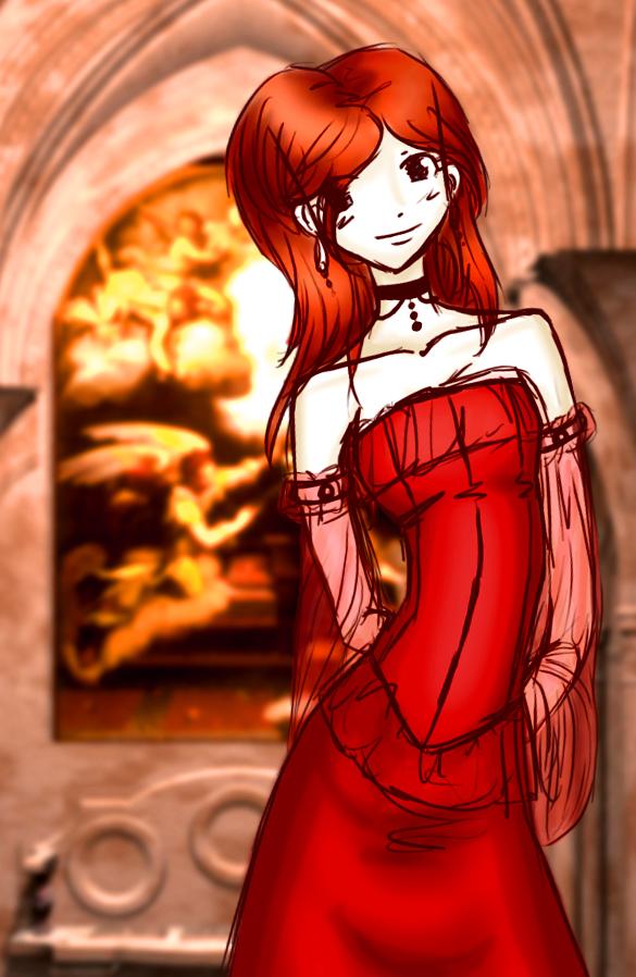 Red Dress by zombie-jill