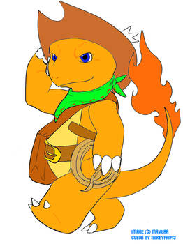 Mike the Charmander Colored