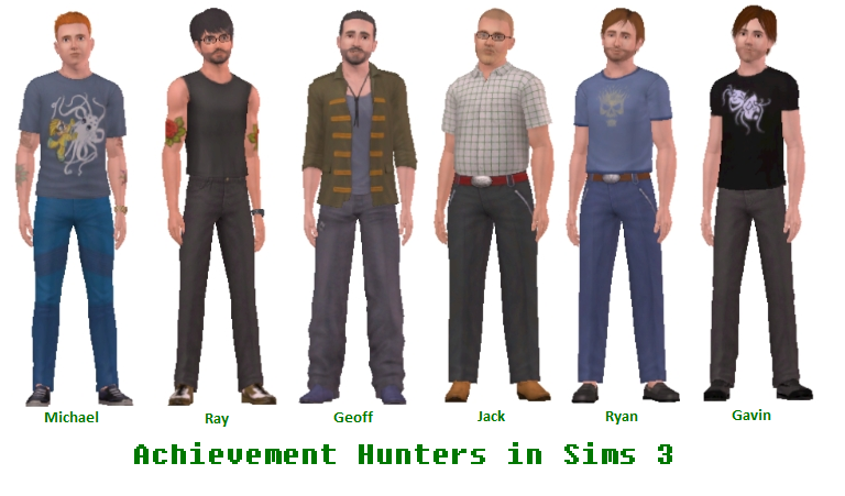 Achievement Hunters in Sims 3 by Mikeyfan93 on DeviantArt
