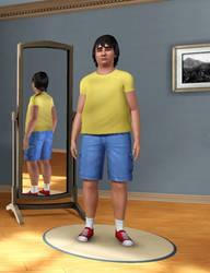 Gene Belcher in Sims 3 by Mikeyfan93