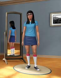 Tina Belcher in Sims 3