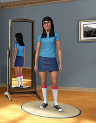 Tina Belcher in Sims 3 by Mikeyfan93
