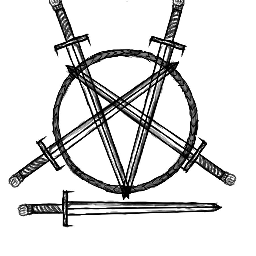 pentagram tattoo design by slayerguitarman on deviantart. Black Bedroom Furniture Sets. Home Design Ideas