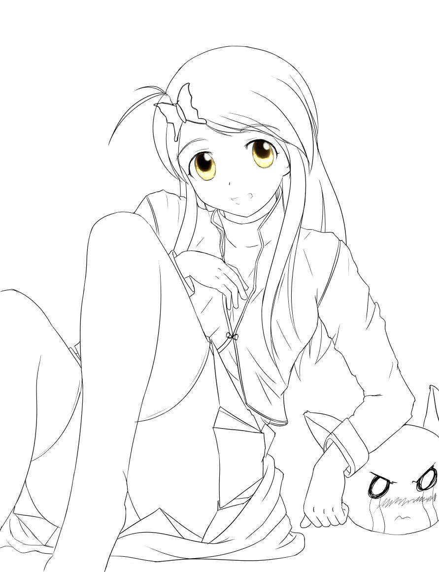 coloring animeserenitylkw14 on deviantart