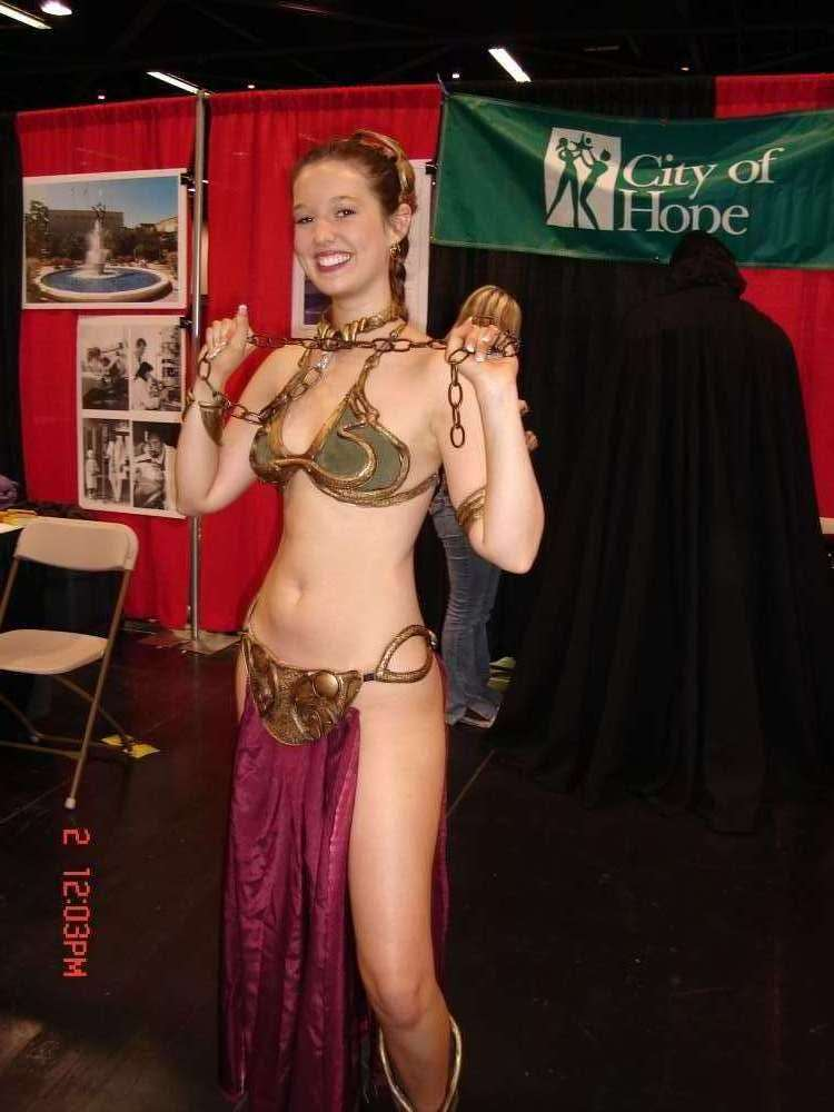 leia in slave costume by kalantiaw