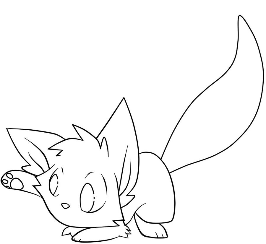 Line Drawing Kitty : Cute kitty lineart by kaydolf on deviantart
